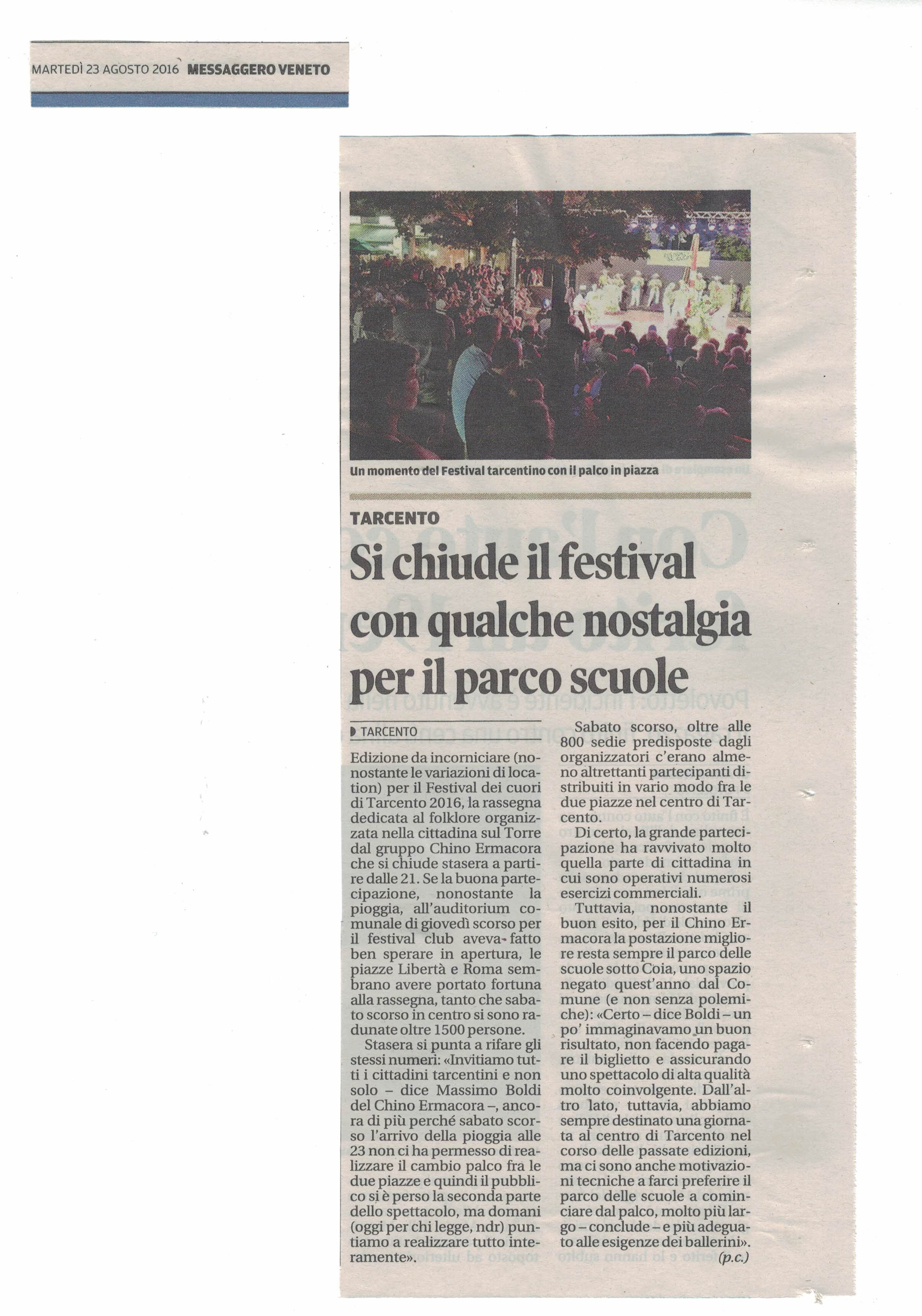 Messaggero Veneto 23.08.2016