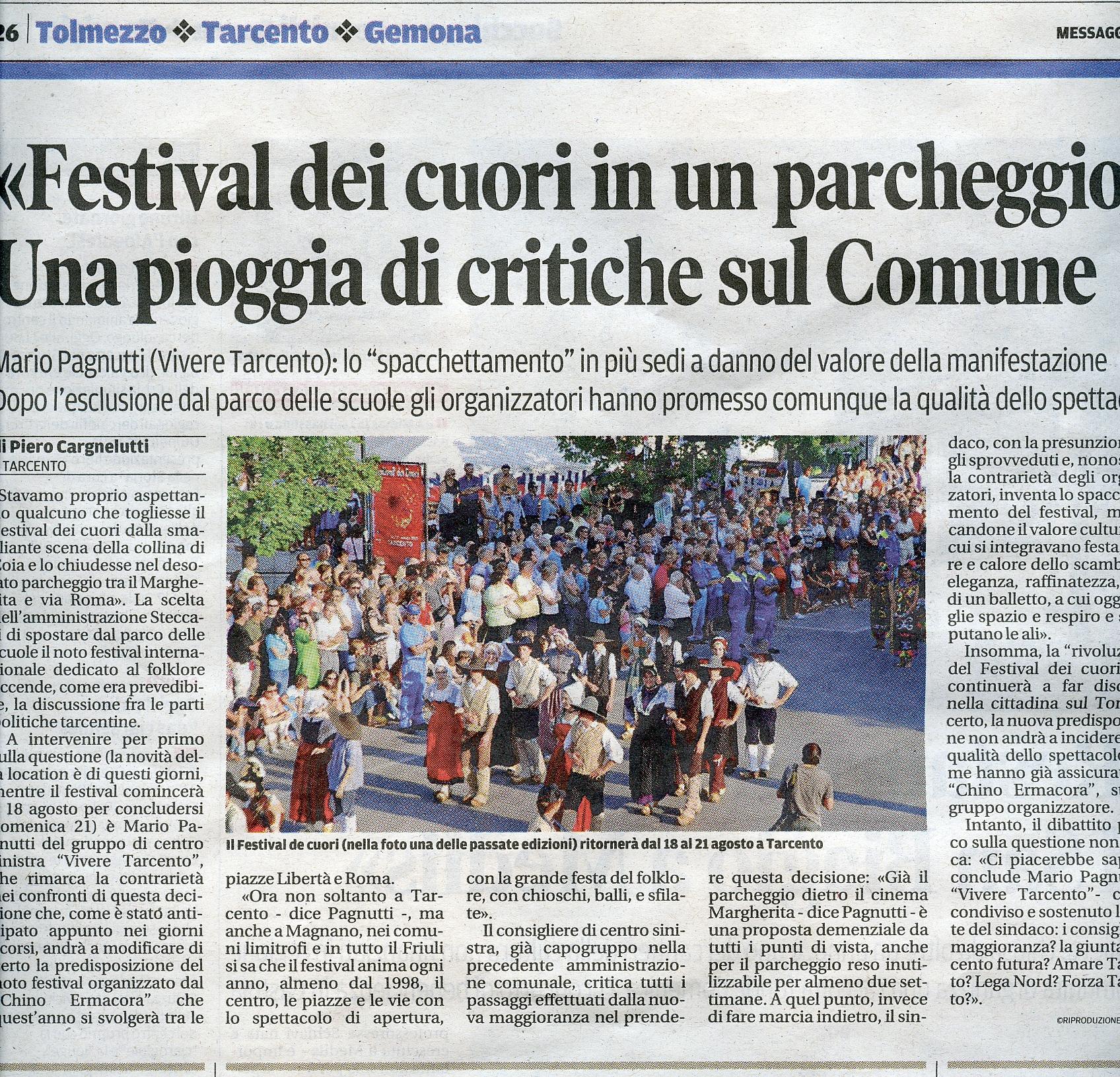 Messaggero Veneto 14.08.2016