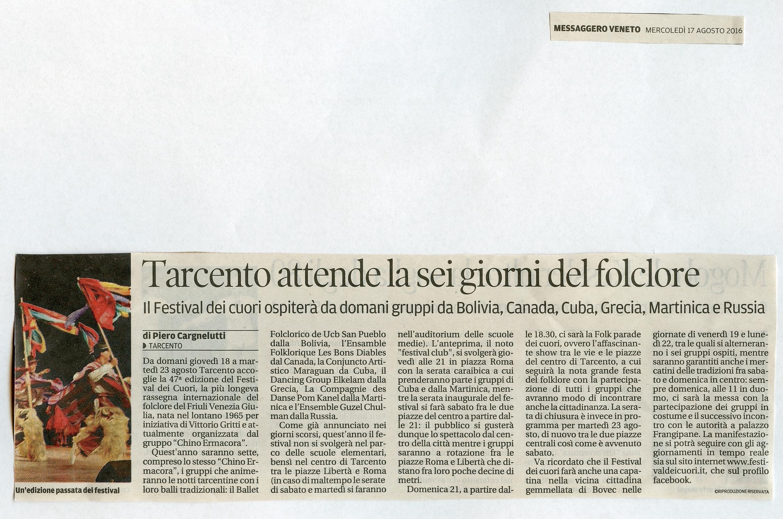Messaggero Veneto 17.08.2016