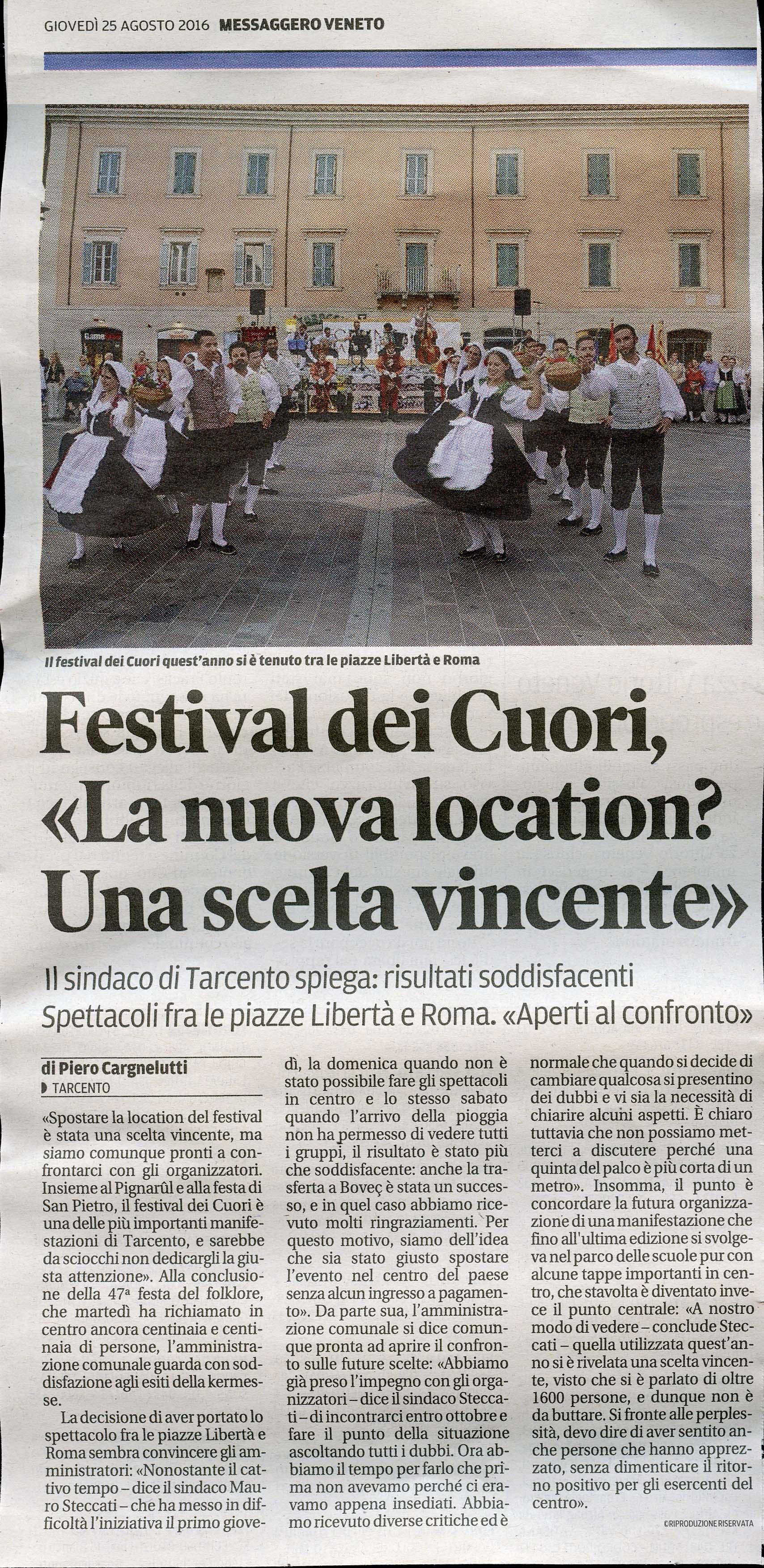 Messaggero Veneto 25.08.2016