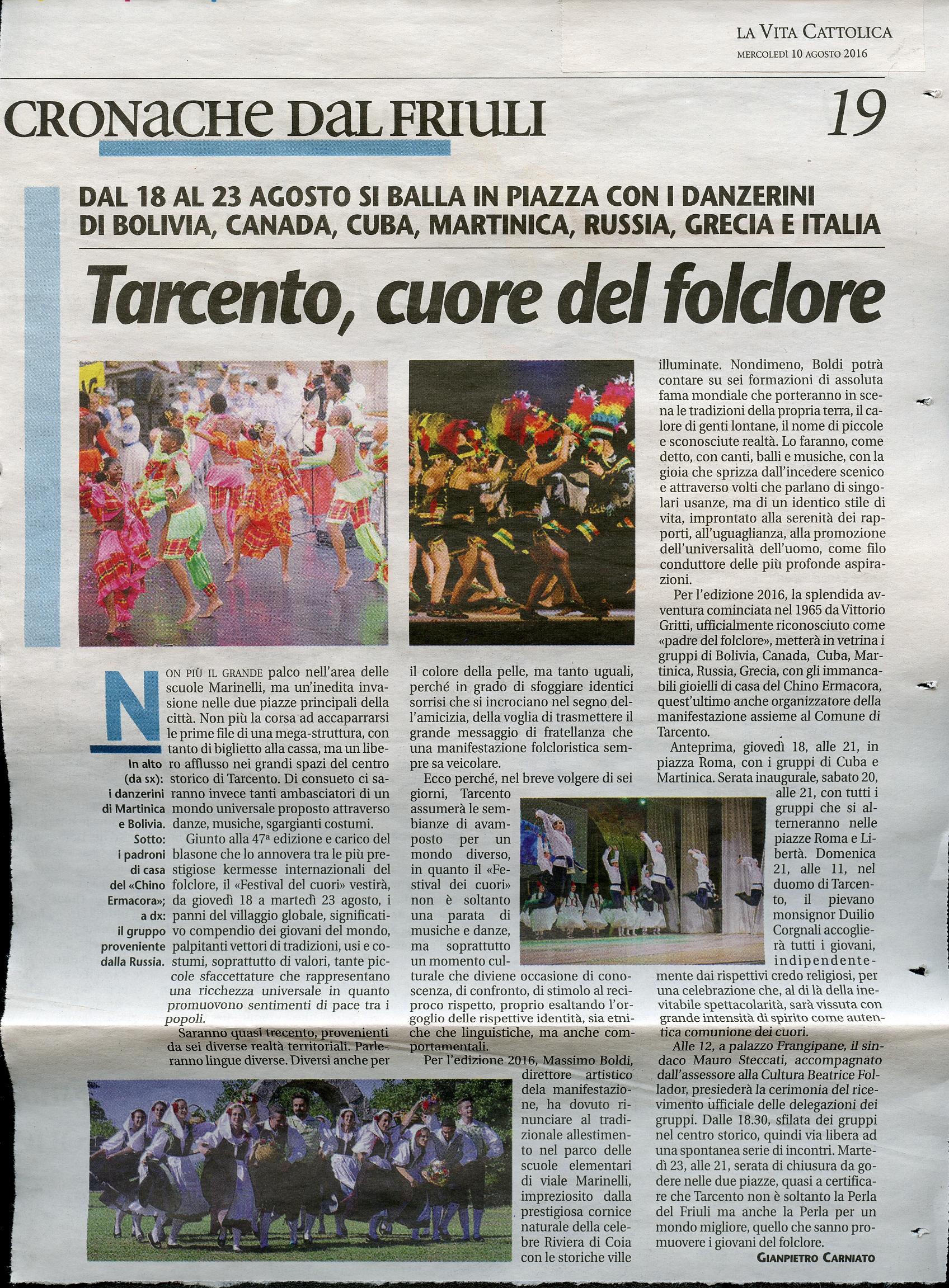 Vita Cattolica 10.08.2016