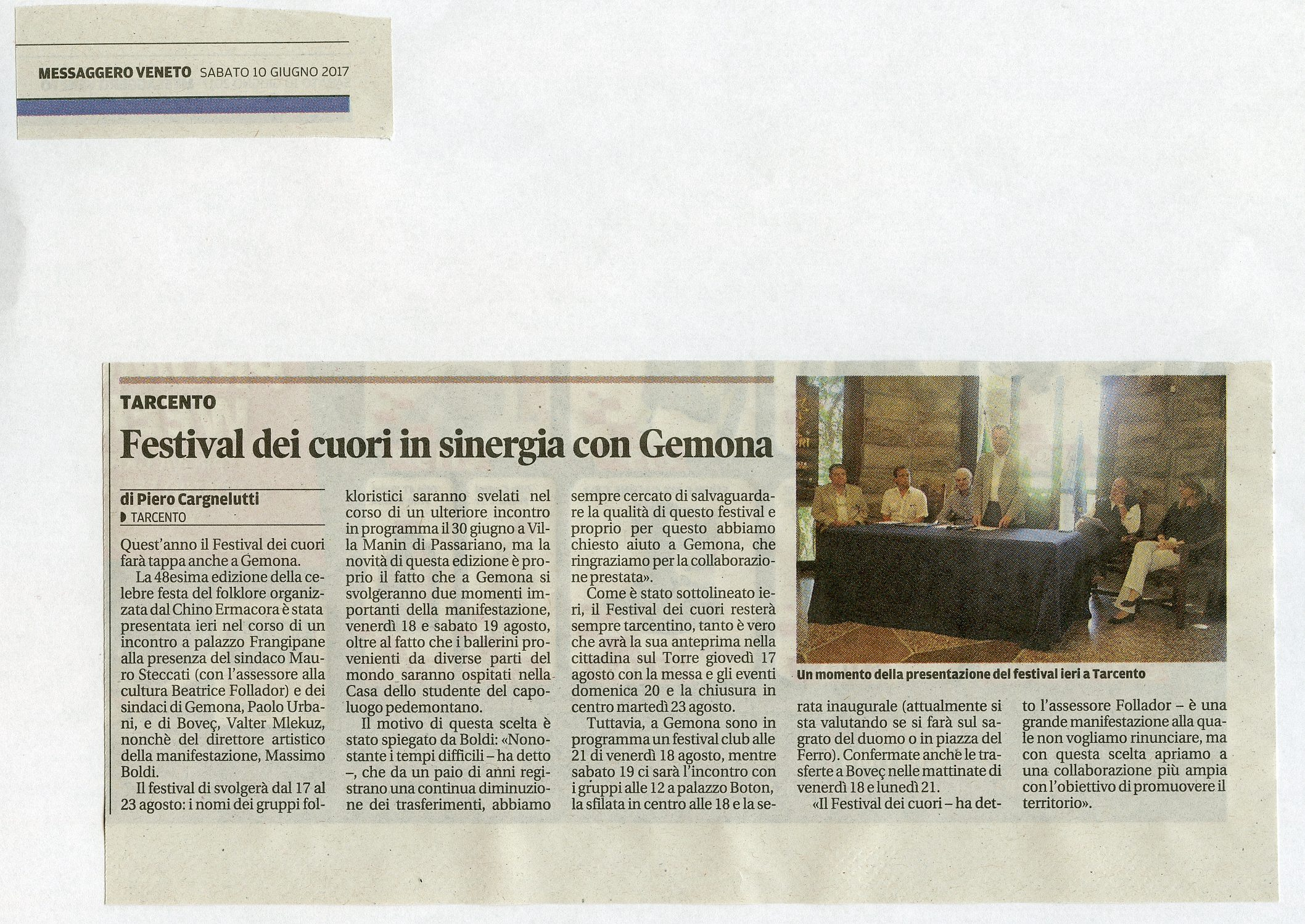 Messaggero Veneto 10.06.2017