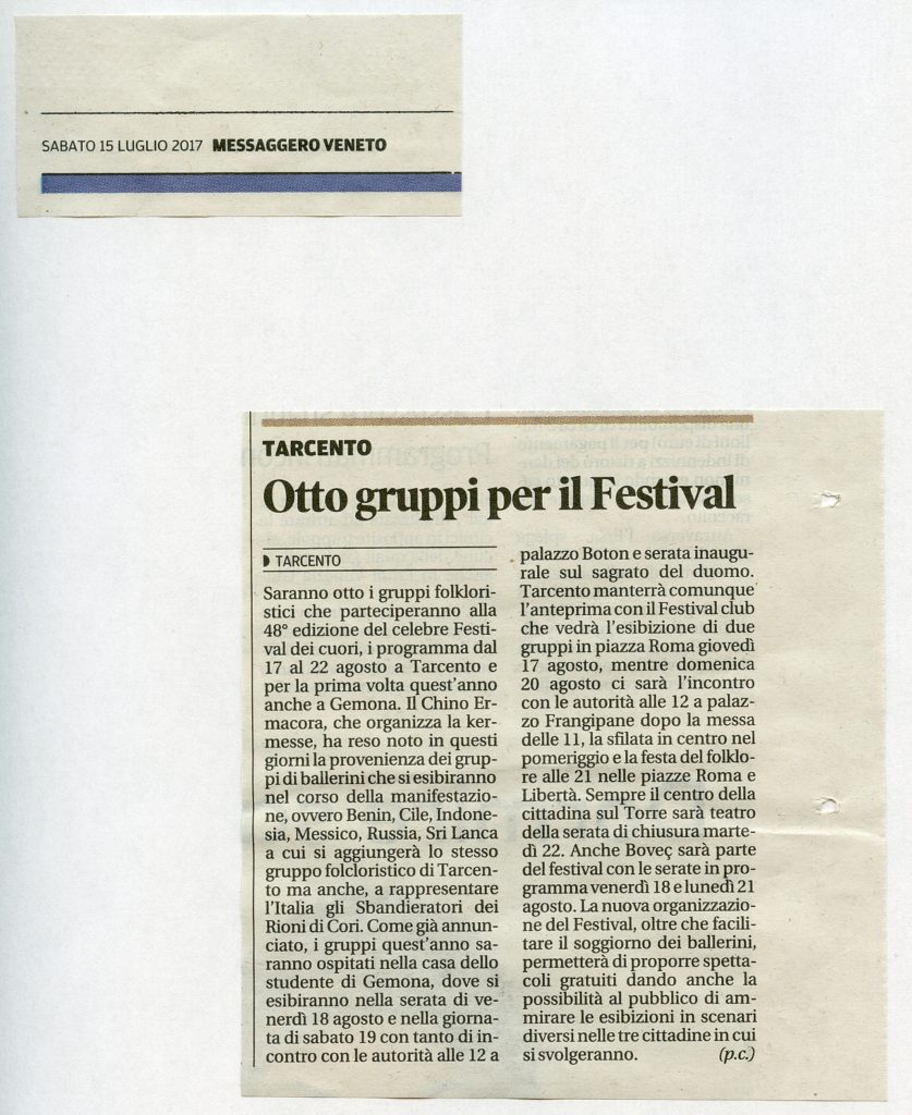 Messaggero Veneto 15.07.2017