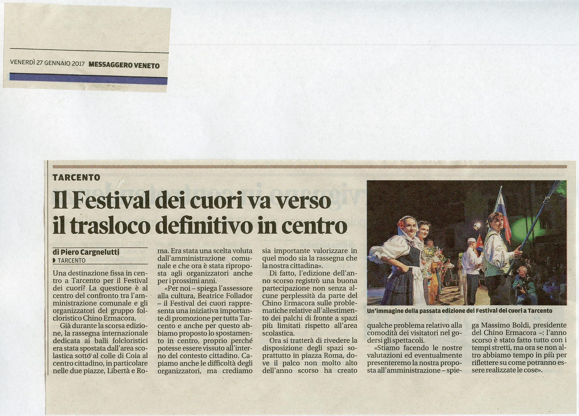 Messaggero Veneto 27.01.2017