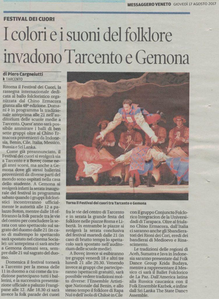 Messaggero Veneto 17.08.2017
