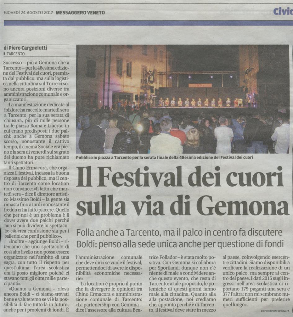 Messaggero Veneto 24.08.2017