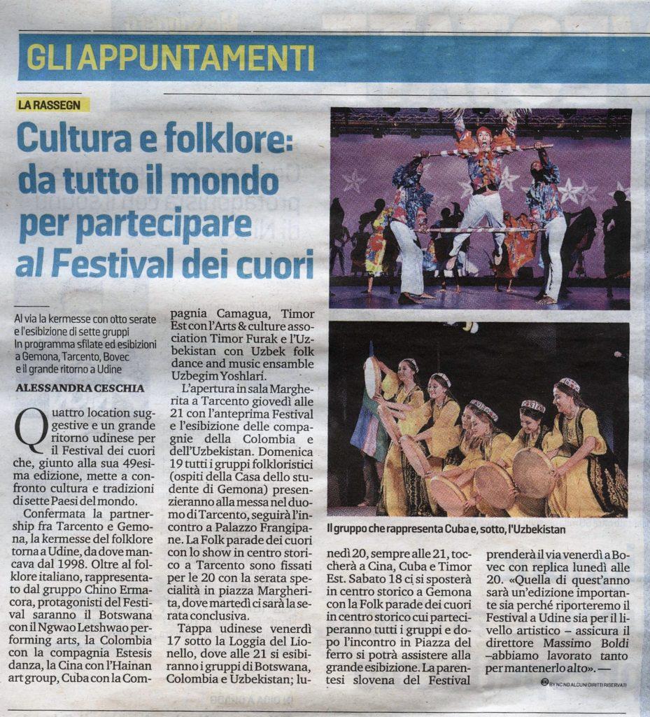 Messaggero Veneto 14/08/2018